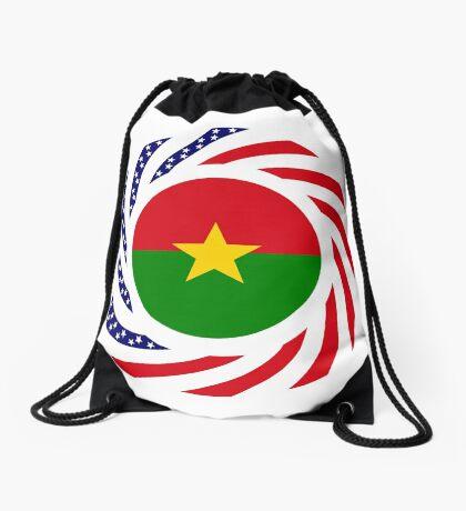 Burkina Faso American Multinational Patriot Flag 1.0 Drawstring Bag