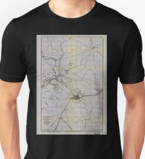 Civil War Maps 0059 Atlanta vicinity compiled from state map and information 02 Unisex T-Shirt