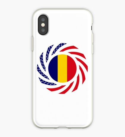 Chad American Multinational Patriot Flag Series iPhone Case