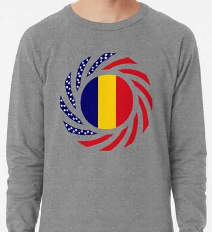 Chad American Multinational Patriot Flag Series Lightweight Sweatshirt
