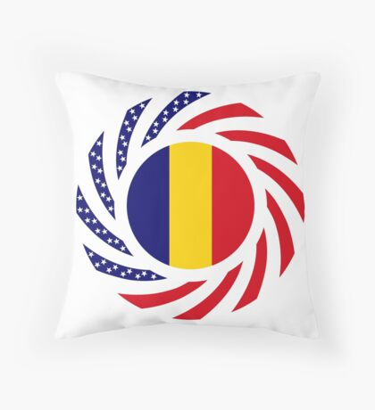 Chad American Multinational Patriot Flag Series Throw Pillow