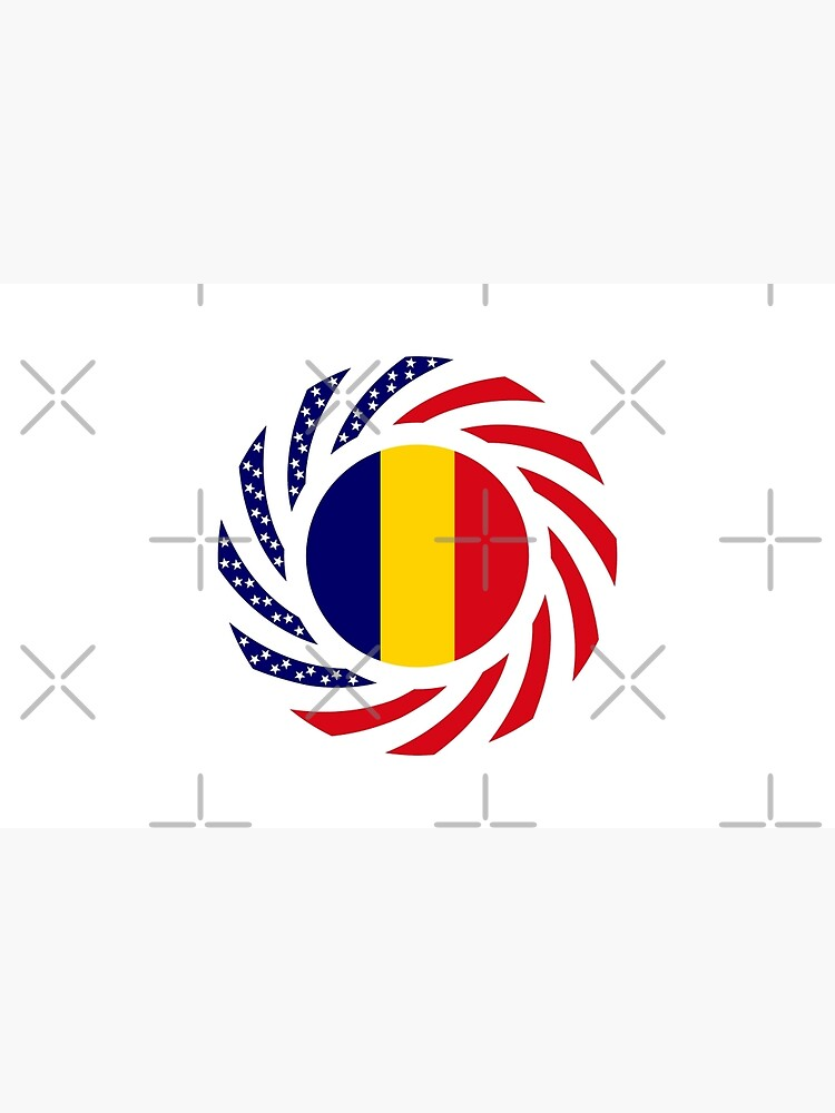 Chad American Multinational Patriot Flag Series by carbonfibreme