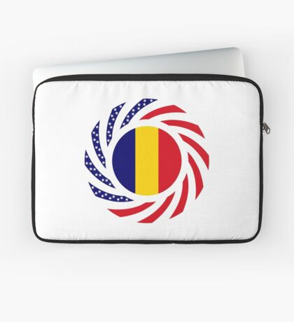 Chad American Multinational Patriot Flag Series Laptop Sleeve