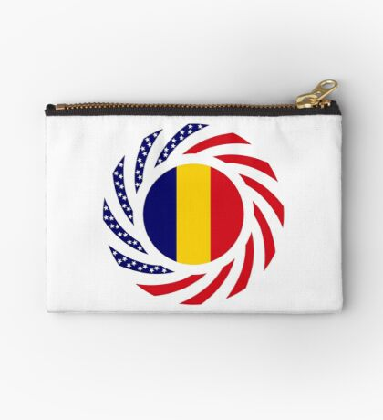 Chad American Multinational Patriot Flag Series Zipper Pouch