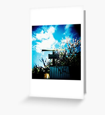 Cross and blossoms Greeting Card