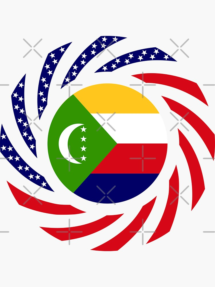 Comoros American Multinational Patriot Flag Series by carbonfibreme