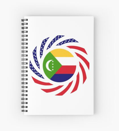 Comoros American Multinational Patriot Flag Series Spiral Notebook