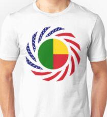 Benin American Multinational Patriot Flag Series Slim Fit T-Shirt