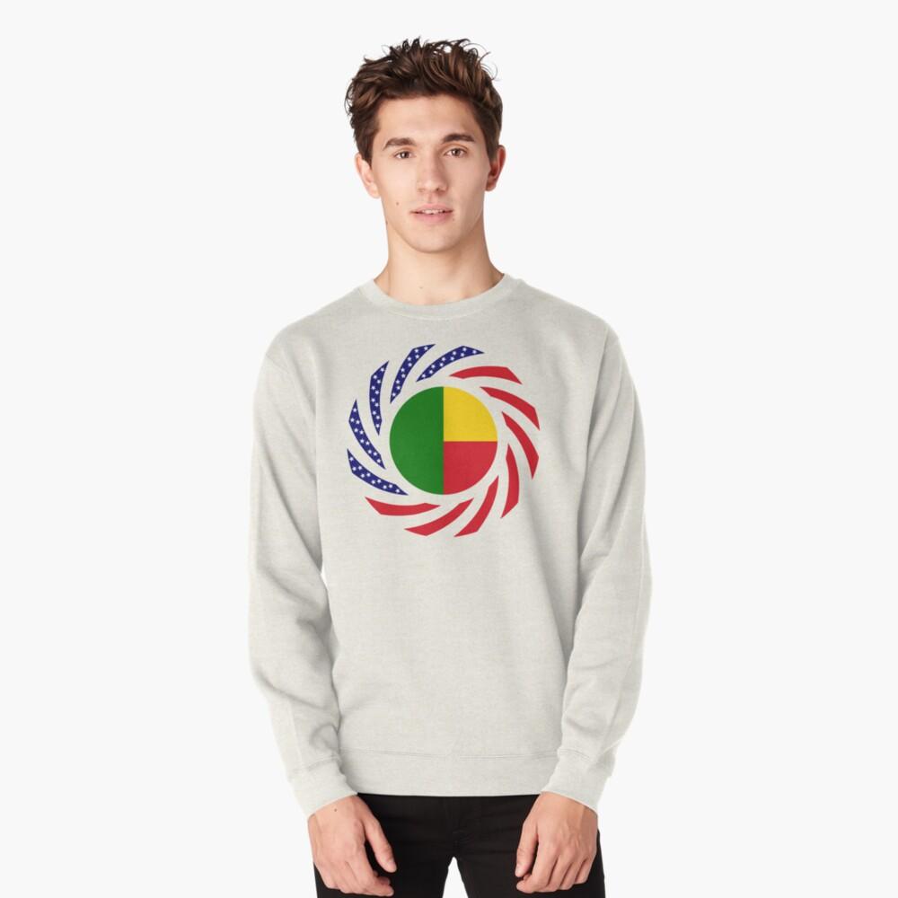 Benin American Multinational Patriot Flag Series Pullover Sweatshirt