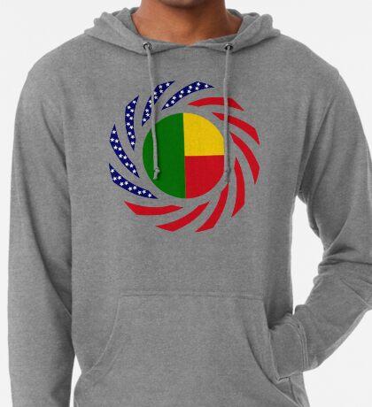 Benin American Multinational Patriot Flag Series Lightweight Hoodie