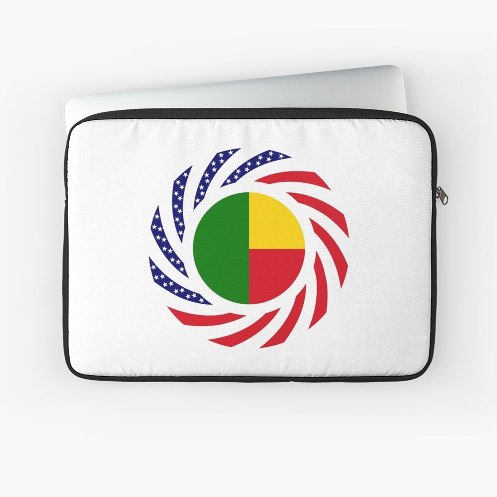 Benin American Multinational Patriot Flag Series Laptop Sleeve