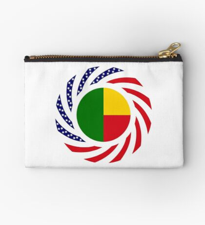 Benin American Multinational Patriot Flag Series Zipper Pouch