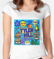 Tyler Hügel Tailliertes Rundhals-Shirt