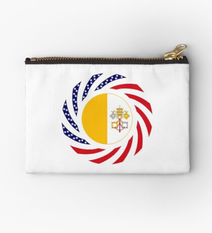 Catholic Murican Patriot Flag Series Zipper Pouch