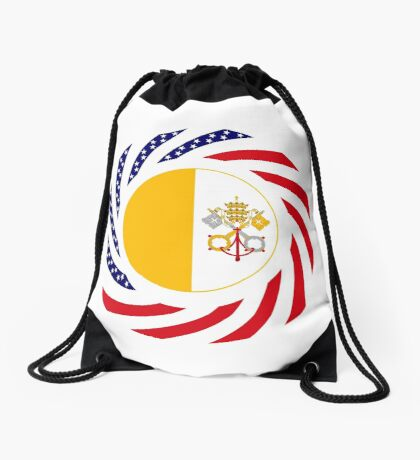Catholic Murican Patriot Flag Series Drawstring Bag