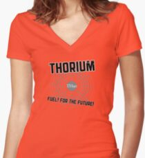 THORIUM - fuel for the future Women's Fitted V-Neck T-Shirt