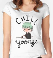 Chill Min Yoongi Women's Fitted Scoop T-Shirt