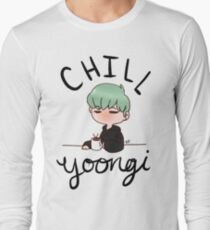 Chill Min Yoongi Long Sleeve T-Shirt
