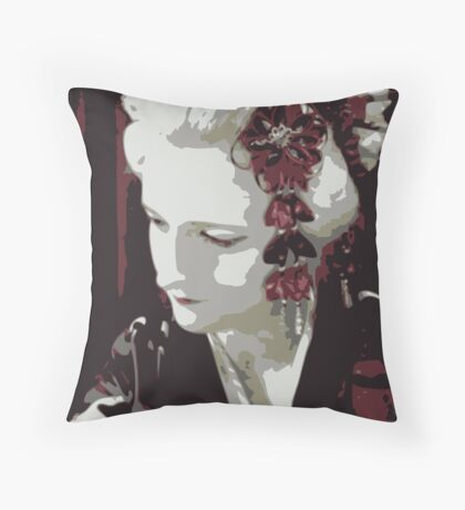 submissive Geisha Throw Pillow
