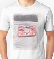 Ferrari 312PB by Glens Graphix Unisex T-Shirt