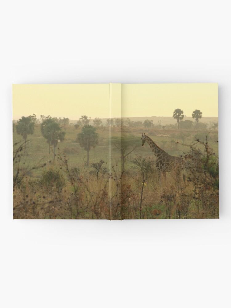 Alternative Ansicht von Am frühen Morgen Giraffe Notizbuch