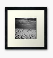 Sand and sky Framed Print