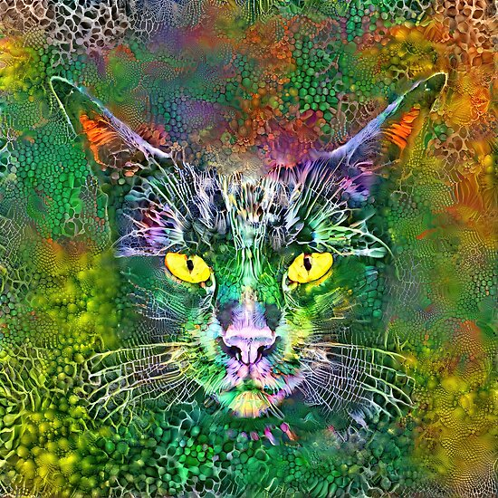 Deep dream cat abstraction ...