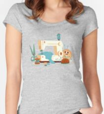 SEWING MACHINE Women's Fitted Scoop T-Shirt