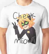 Check Meowt! Cat Noir Unisex T-Shirt