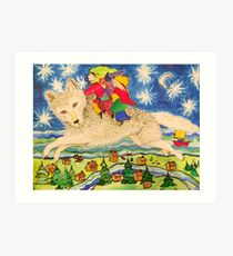 The Children Who Ride Wolves Across the Sky Art Print
