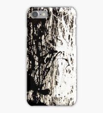Modern Abstract Jackson Pollock Painting Original Art Titled: Black & White iPhone Case/Skin