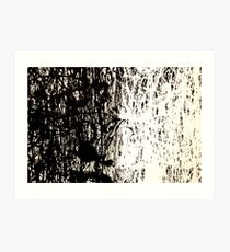 Modern Abstract Jackson Pollock Painting Original Art Titled: Black & White Art Print