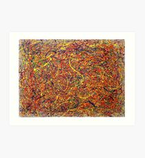 Abstrait Jackson Pollock Peinture Art Original titré: Singularité Impression artistique