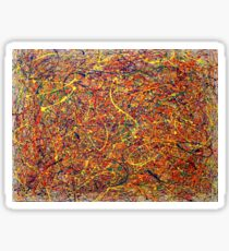 Abstract Jackson Pollock Painting Original Art Titled: Singularity Sticker