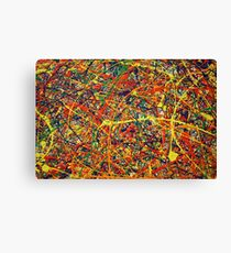 Abstract Jackson Pollock Painting Original Art Titled: Conformity Canvas Print