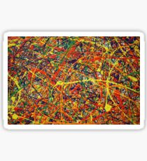 Abstract Jackson Pollock Painting Original Art Titled: Conformity Sticker