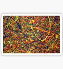Modern Abstract Jackson Pollock Painting Original Art Titled: Constant Harmony Sticker