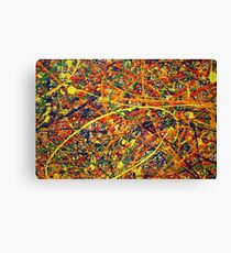 Abstract Jackson Pollock Painting Original Art Titled: Jump In Canvas Print