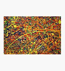 Abstract Jackson Pollock Painting Original Art Titled: Jump In Photographic Print