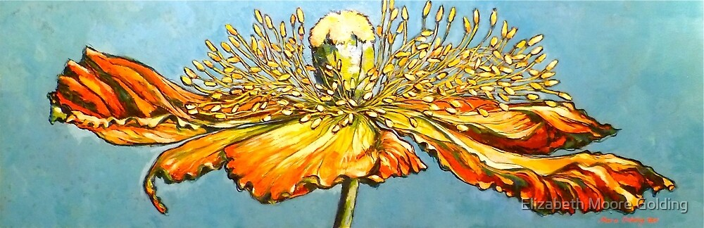 Blue poppy. Oil on canvas 2012Ⓒ  by Elizabeth Moore Golding