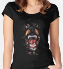 Givenchy Rottweiler Dog Women's Fitted Scoop T-Shirt