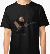 Minecraft Herobrine Rock Classic T-Shirt