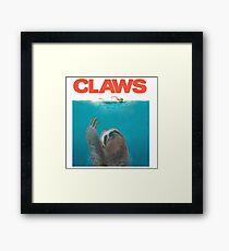 Sloth Claws Parody Framed Print