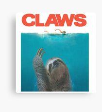 Sloth Claws Parody Canvas Print