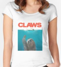 Sloth Claws Parody Women's Fitted Scoop T-Shirt