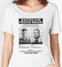 Wanted For Prison Break Women's Relaxed Fit T-Shirt