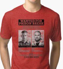 Wanted For Prison Break Tri-blend T-Shirt
