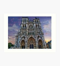France. Amiens. Amiens Cathedral. Art Print