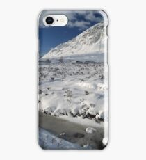 The road to Glen Etive in Winter - Panorama iPhone Case/Skin
