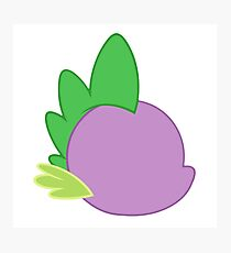 My little Pony - Spike Cutie Mark Special V2 Photographic Print